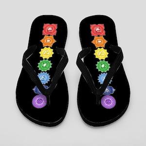 Chakra Symbols Flip Flops