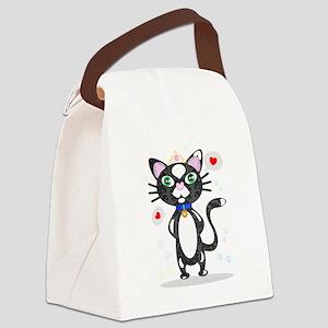 Princess Tuxedo Cat Canvas Lunch Bag