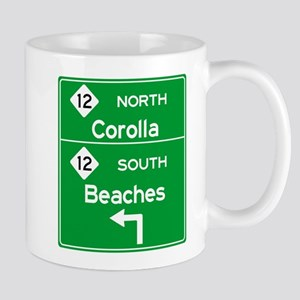 Outer Banks Route 12 Sign Mugs