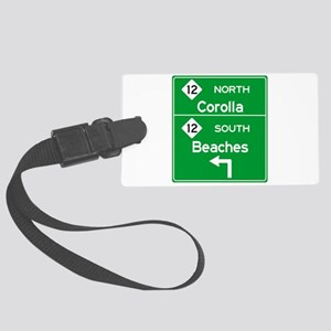 Outer Banks Route 12 Sign Large Luggage Tag