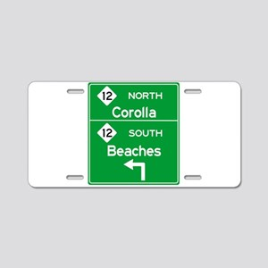 Outer Banks Route 12 Sign Aluminum License Plate