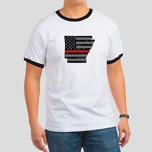 Arkansas Firefighter Thin Red Line T-Shirt