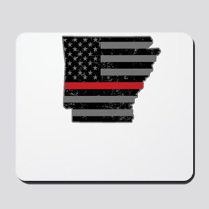 Arkansas Firefighter Thin Red Line Mousepad