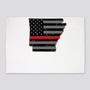 Arkansas Firefighter Thin Red Line 5'x7'Area Rug