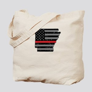 Arkansas Firefighter Thin Red Line Tote Bag