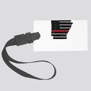 Arkansas Firefighter Thin Red Li Large Luggage Tag