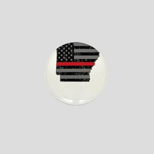 Arkansas Firefighter Thin Red Line Mini Button