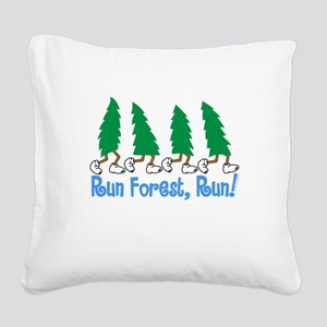 Run Forest Run Square Canvas Pillow