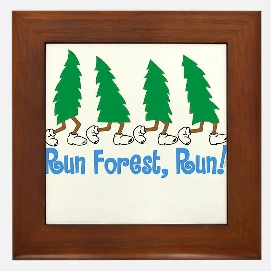 Run Forest Run Framed Tile