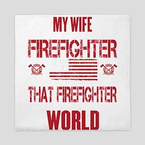 Firefighter Wife World Queen Duvet
