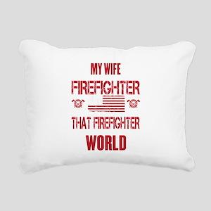 Firefighter Wife World Rectangular Canvas Pillow