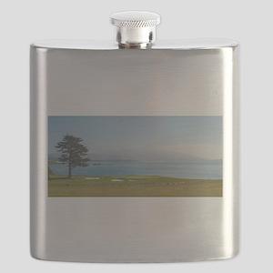 18th Green Pebble Beach Flask