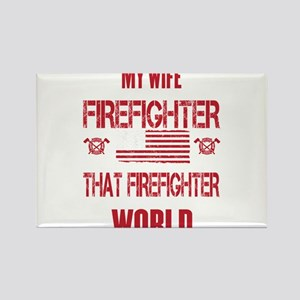 Firefighter Wife World Magnets