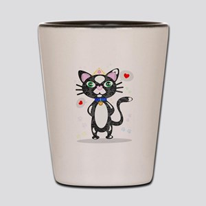 Princess Tuxedo Cat Shot Glass