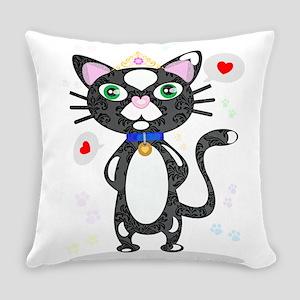 Princess Tuxedo Cat Everyday Pillow