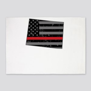 Colorado Firefighter Thin Red Line 5'x7'Area Rug