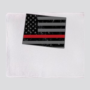 Colorado Firefighter Thin Red Line Throw Blanket