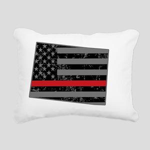 Colorado Firefighter Thi Rectangular Canvas Pillow