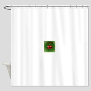 Coffee (Green) Shower Curtain