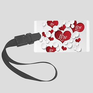 Romantic Love Large Luggage Tag