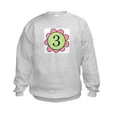 three pink/green flower Sweatshirt