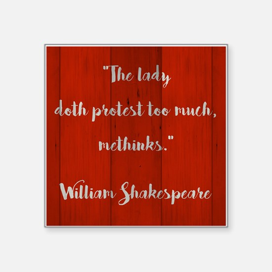 THE LADY DOTH... Sticker