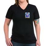 Mulkerran Women's V-Neck Dark T-Shirt