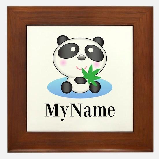Panda (p) Framed Tile
