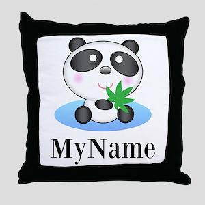 Panda (p) Throw Pillow
