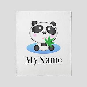 Panda (p) Throw Blanket