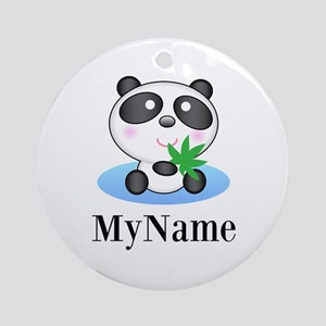 Panda (p) Round Ornament
