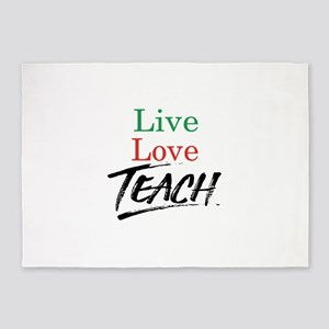 Live Love Teach 5'x7'Area Rug