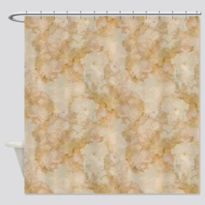 TAN MARBLE Shower Curtain