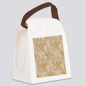 TAN MARBLE Canvas Lunch Bag