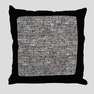 STONE WALL GREY Throw Pillow