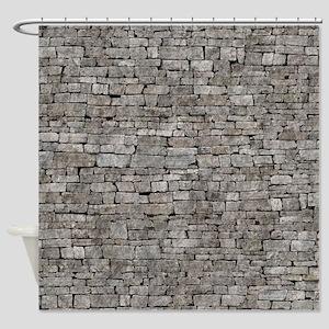 STONE WALL GREY Shower Curtain