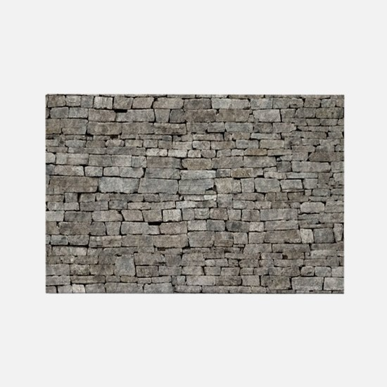 STONE WALL GREY Rectangle Magnet