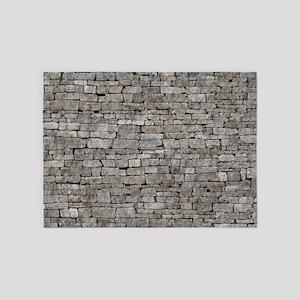 STONE WALL GREY 5'x7'Area Rug