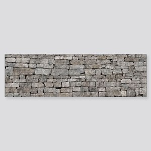 STONE WALL GREY Sticker (Bumper)