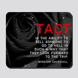 Tact Quote Mousepad