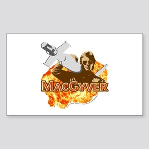 MacGyver In Action Sticker (Rectangle)