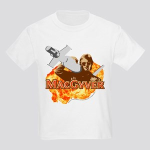 MacGyver In Action Kids Light T-Shirt