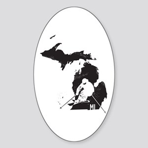 Ski Michigan Sticker (Oval)