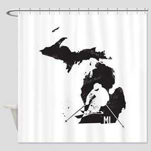 Ski Michigan Shower Curtain