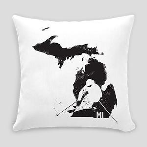 Ski Michigan Everyday Pillow