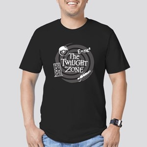 Twilight Zone: E=MC2 Men's Fitted T-Shirt (dark)