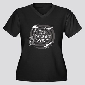 Twilight Zon Women's Plus Size V-Neck Dark T-Shirt