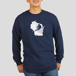 Ski Wisconsin Long Sleeve Dark T-Shirt