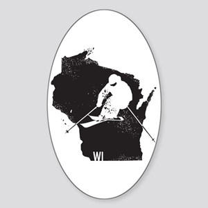 Ski Wisconsin Sticker (Oval)
