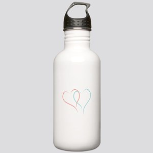 Twin Hearts™ by Leslie Harlow Water Bottle